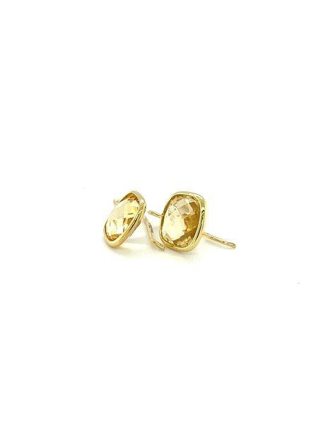 Monzario Oro Monzario gouden oorhangers met Citrien brioliet