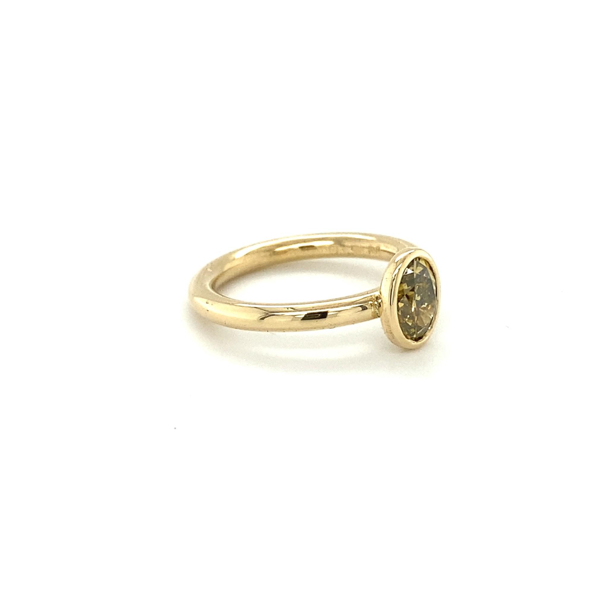 ROEMER by Bregje ROEMER by Bregje geelgouden ring met ovale diamant