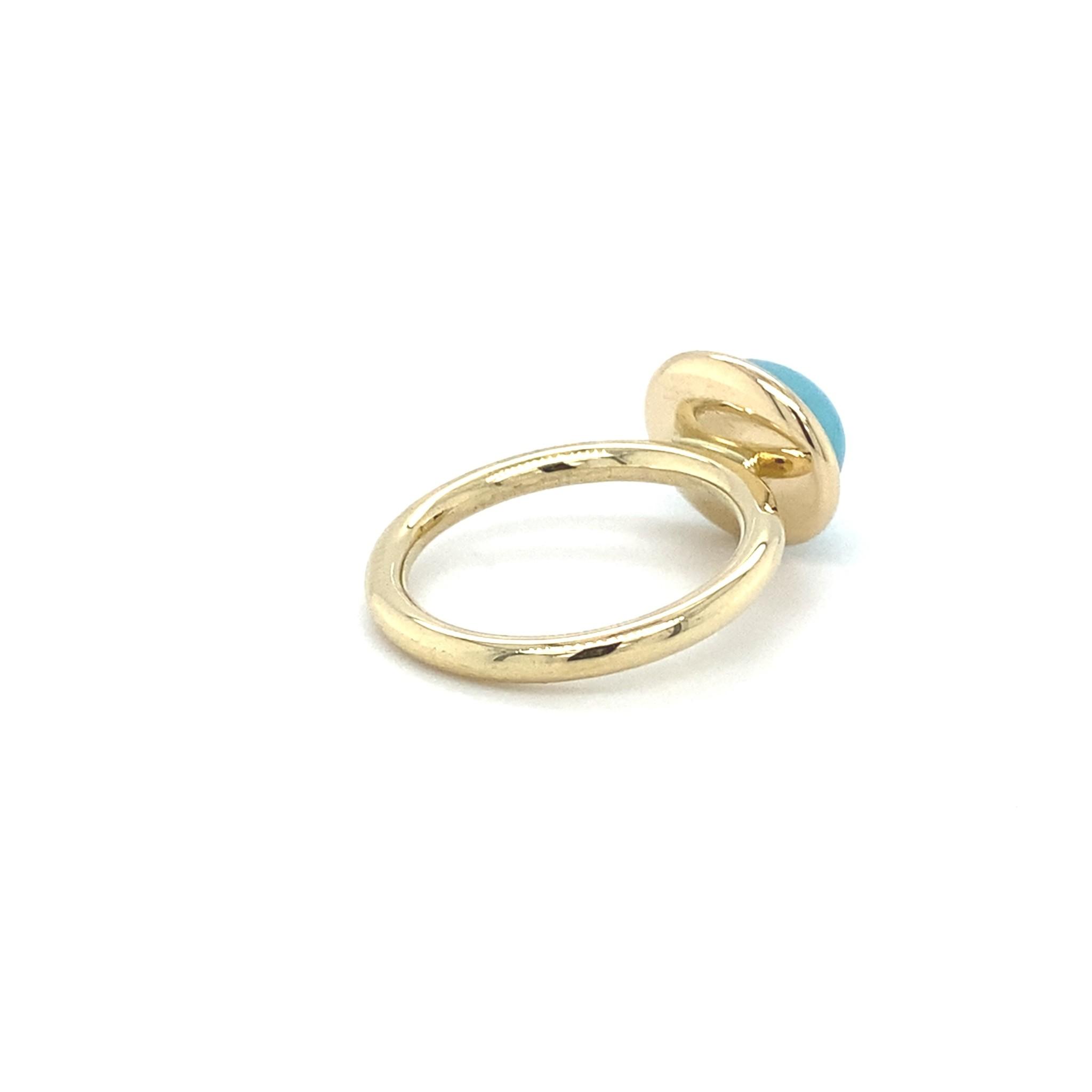 ROEMER by Bregje ROEMER by Bregje geelgouden ring met Chalcedoon