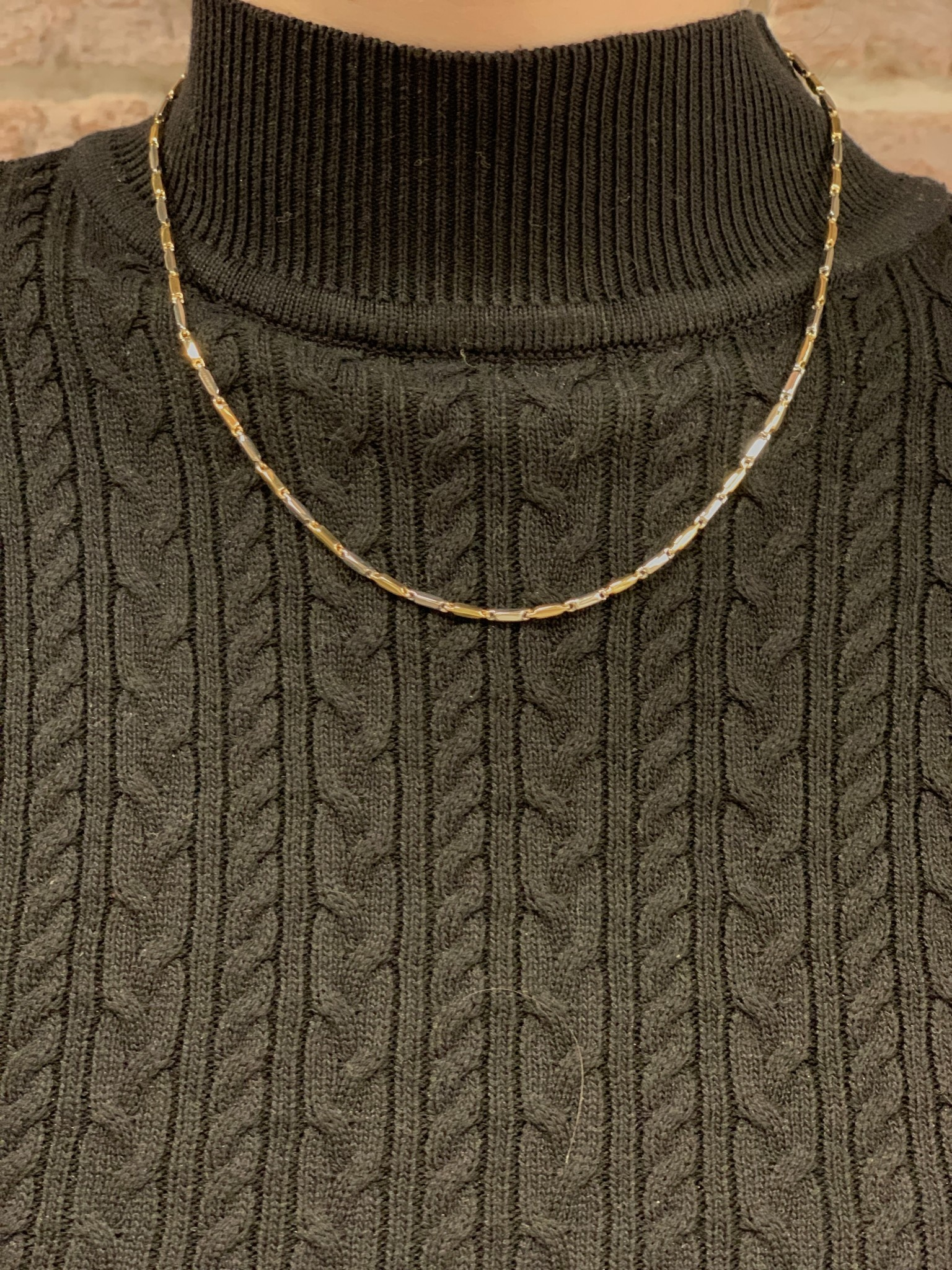 Monzario Oro Monzario collier 865Cbic 45cm. geel/witgoud 14k