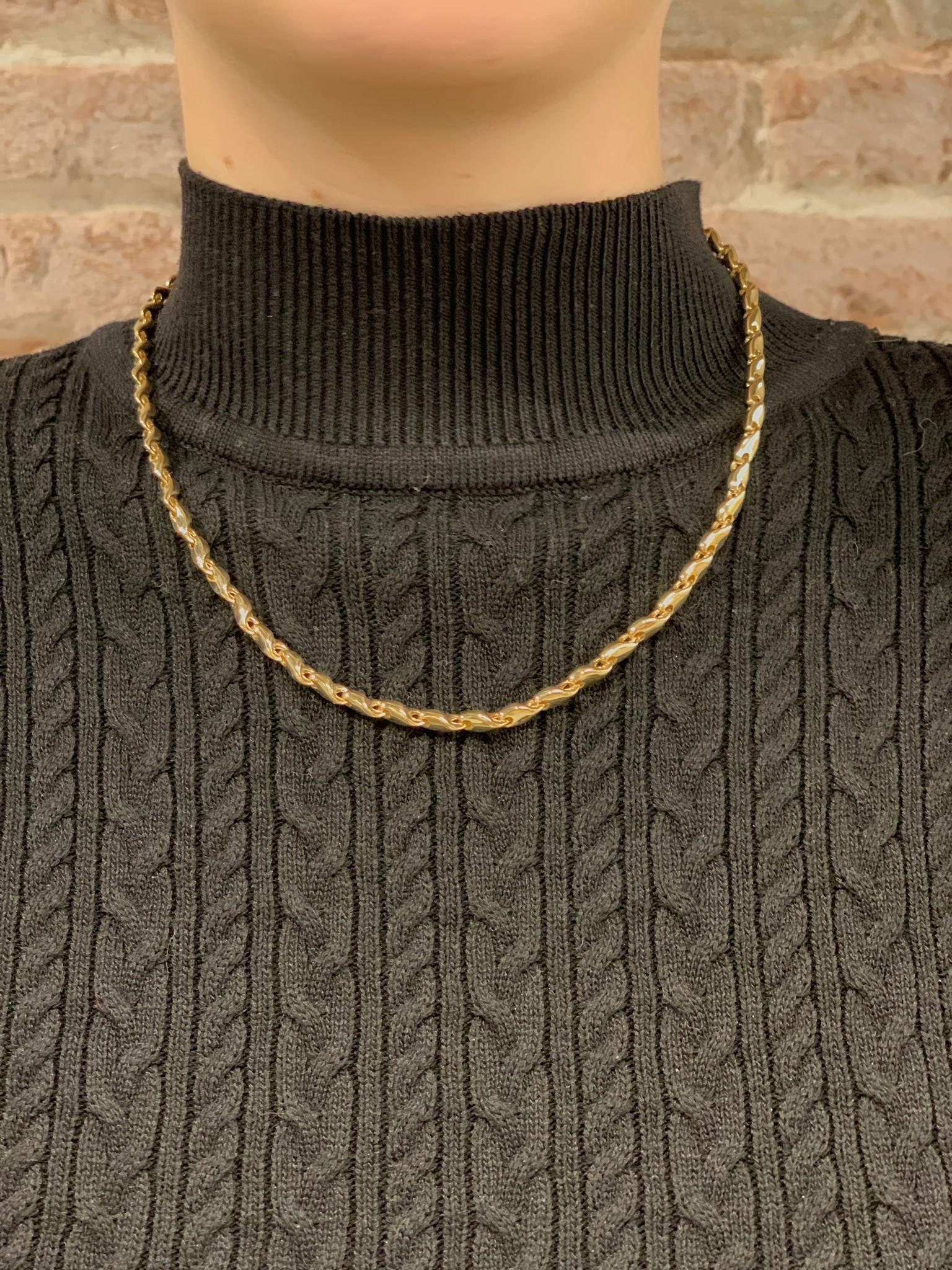 Monzario Oro Monzario collier 1081C 45 cm. geelgoud