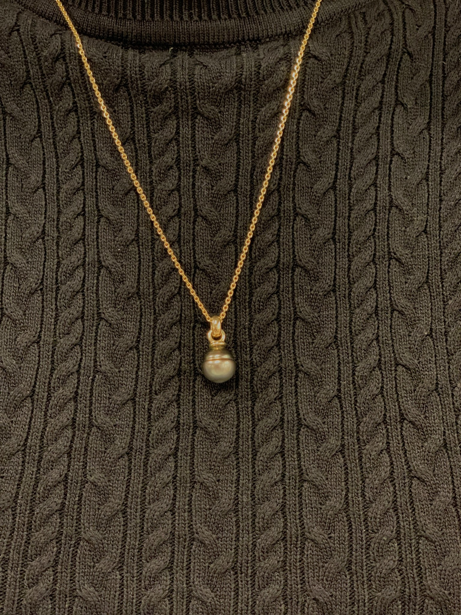 ROEMER by Bregje ROEMER by Bregje gouden hanger met grijze Tahiti parel