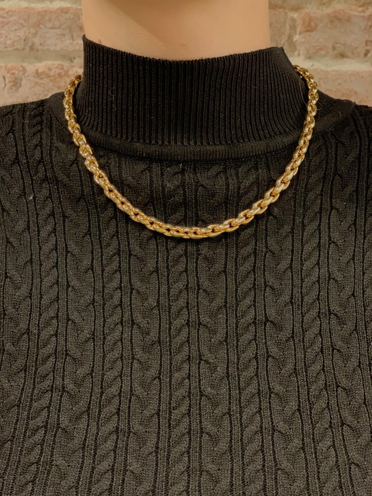 Monzario Oro Monzario collier 615Cgeel 45cm. geelgoud 14K