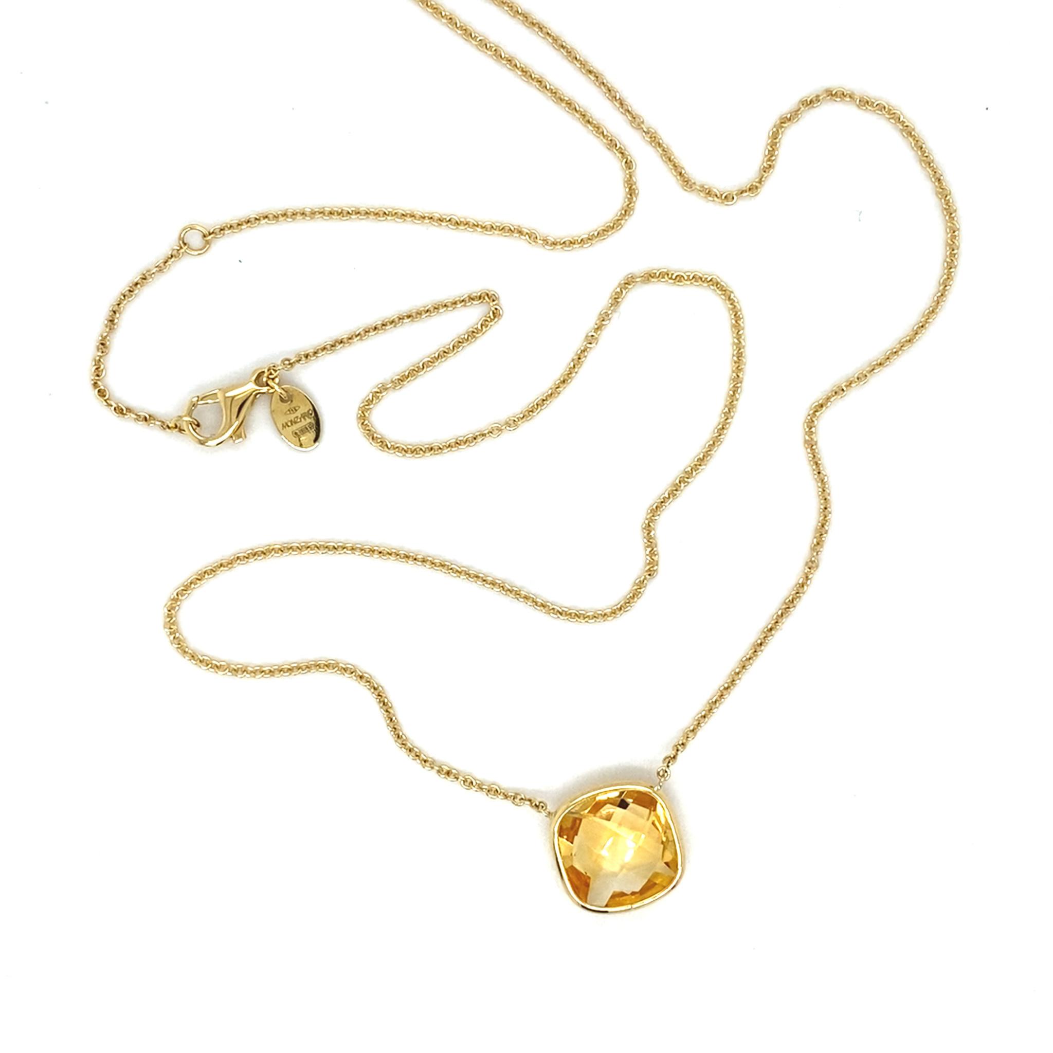 Monzario Oro Monzario gouden collier met Citrien brioliet