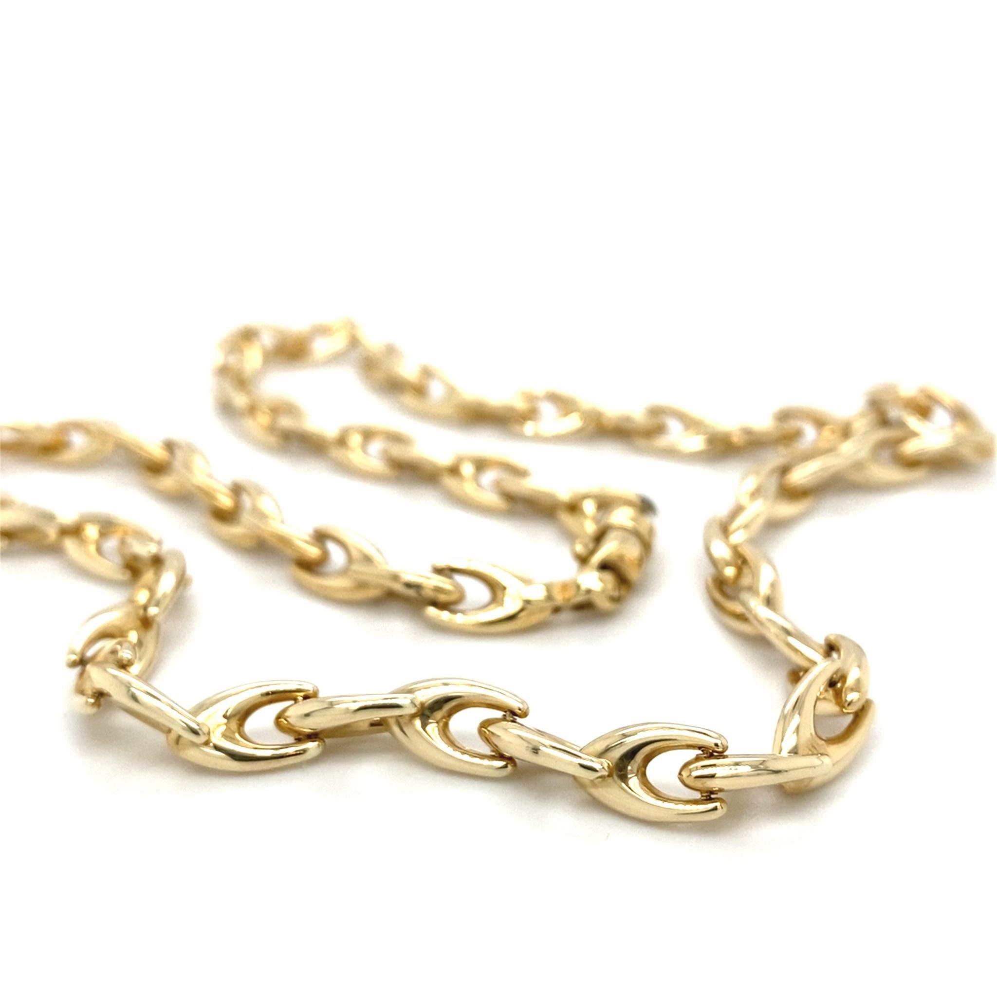 ROEMER ROEMER geelgouden fantasieschakel collier