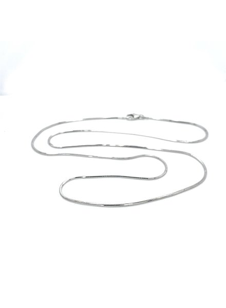 Tomylo Tomylo witgouden collier slang vierkant 50cm