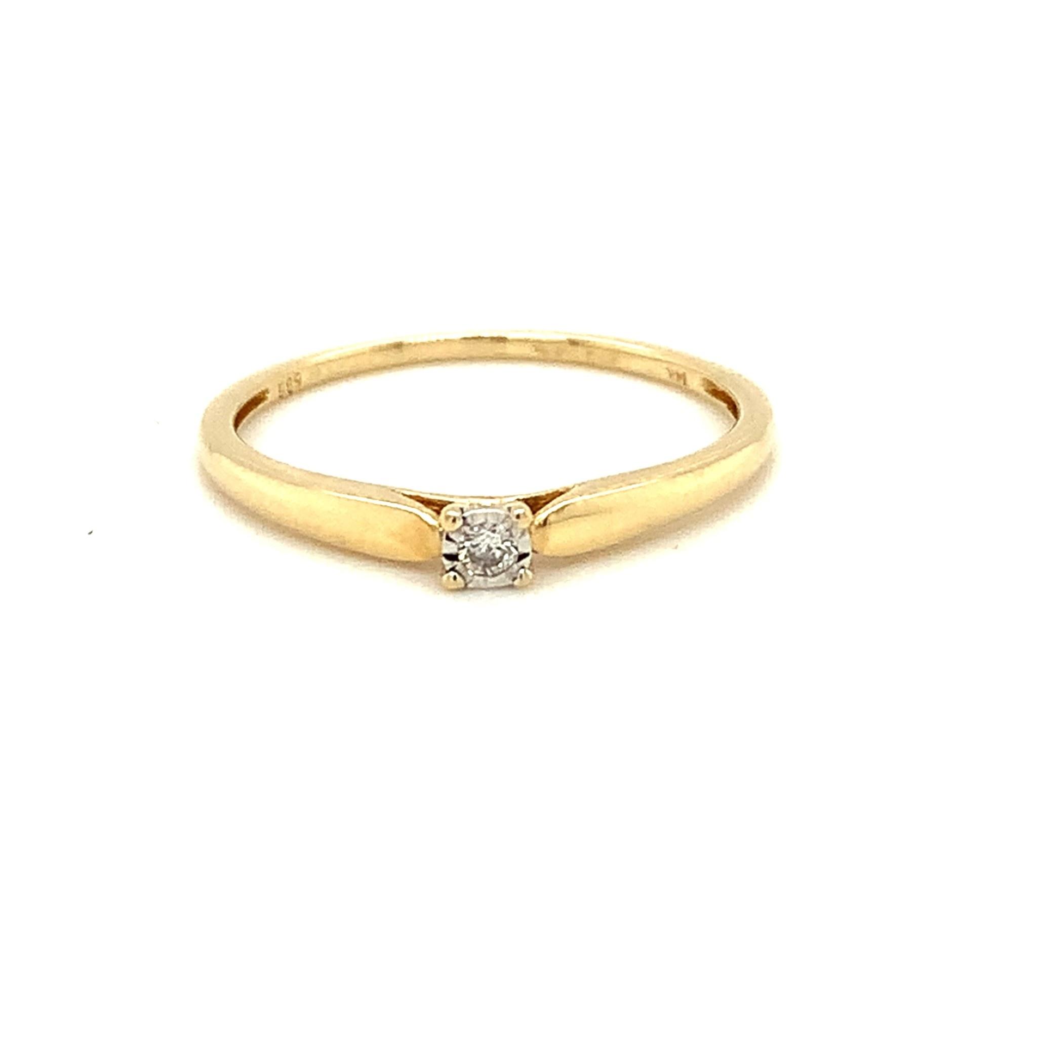 Tomylo Geelgouden ring met diamant