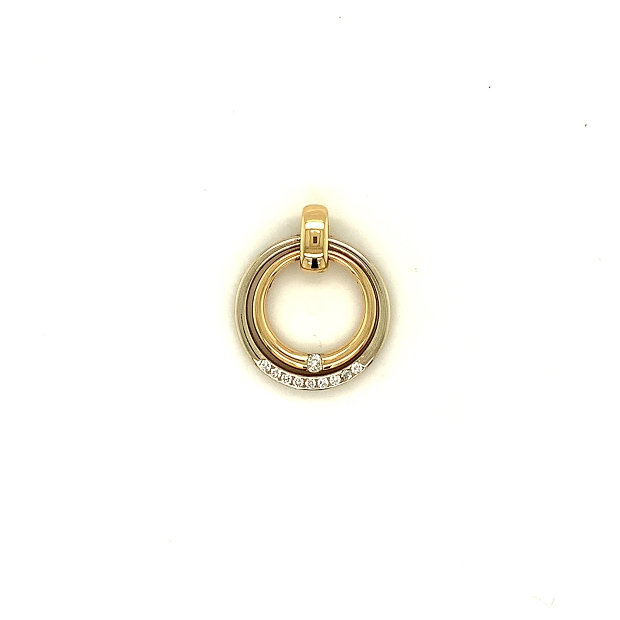 ROEMER by Bregje ROEMER by Bregje bicolor gouden cirkelhanger