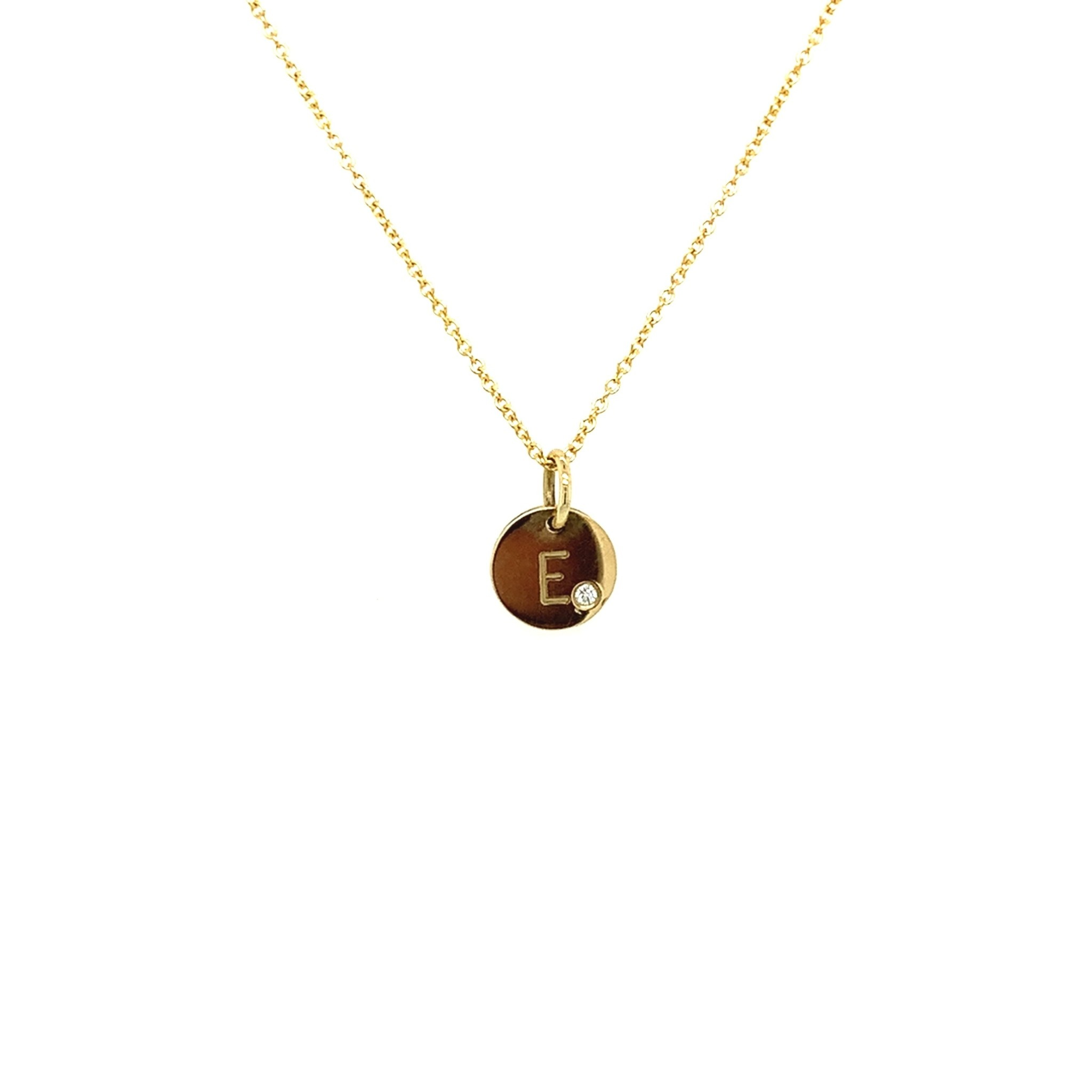 Just Franky Just Franky Coin Necklace met diamant
