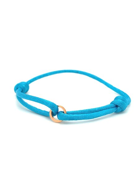 Just Franky Just Franky Iconic Round armband rosegoud