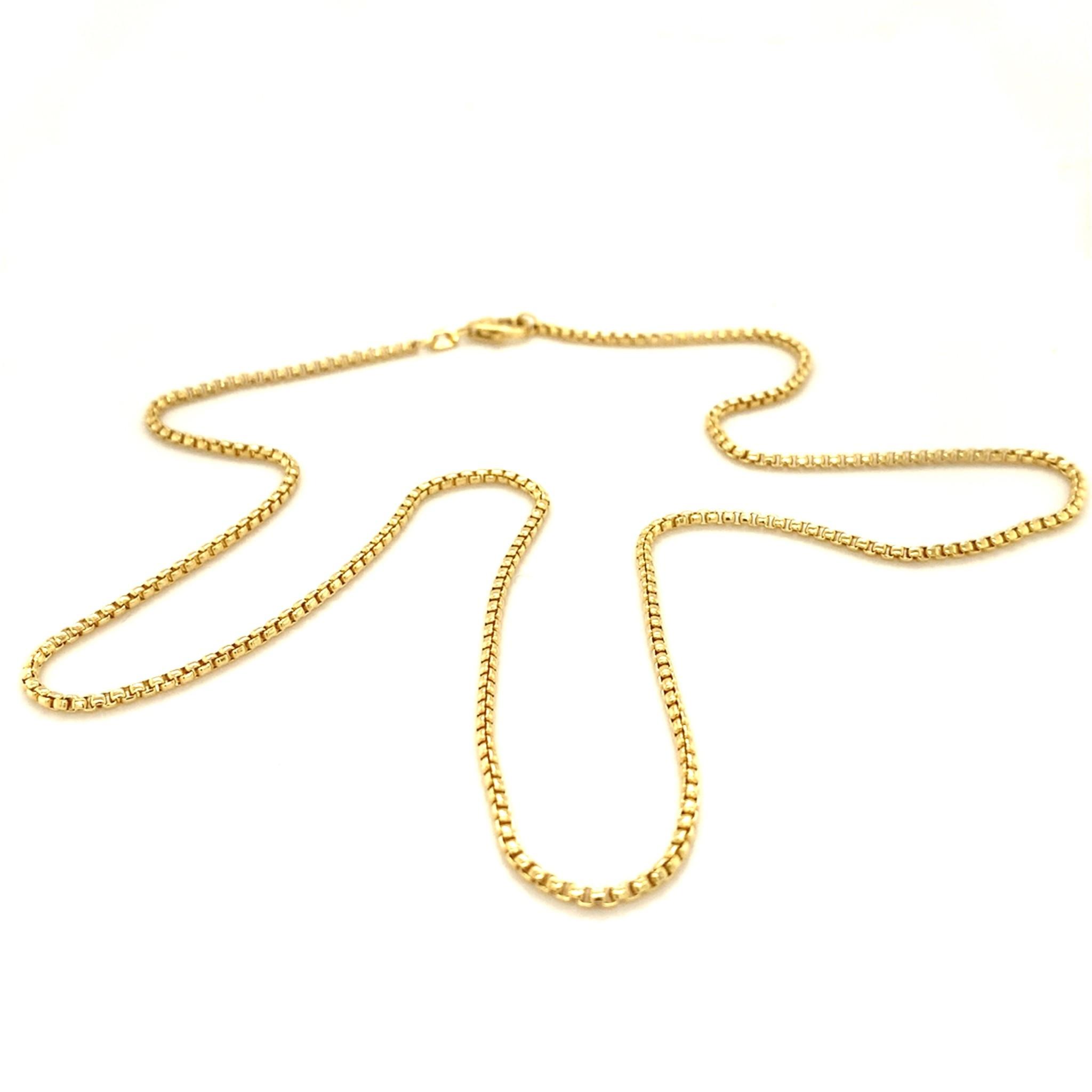 ROEMER ROEMER geelgouden Venetiaans collier rond 45/1.5
