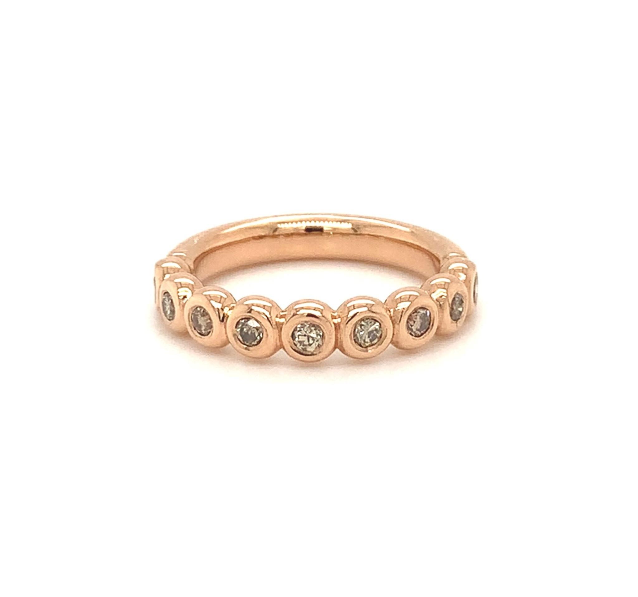 ROEMER by Bregje ROEMER by Bregje Roodgouden ring met bruine diamant