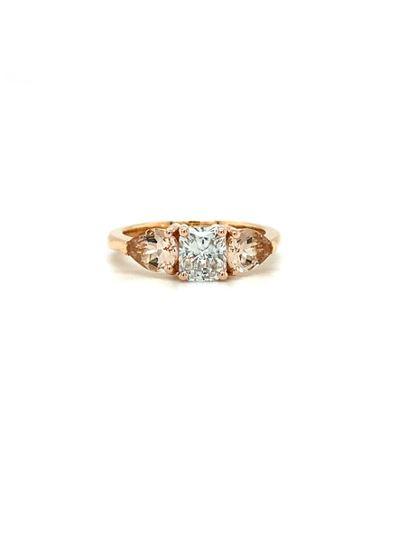 ROEMER by Bregje ROEMER by Bregje Rosegouden ring met Diamant en Morganiet