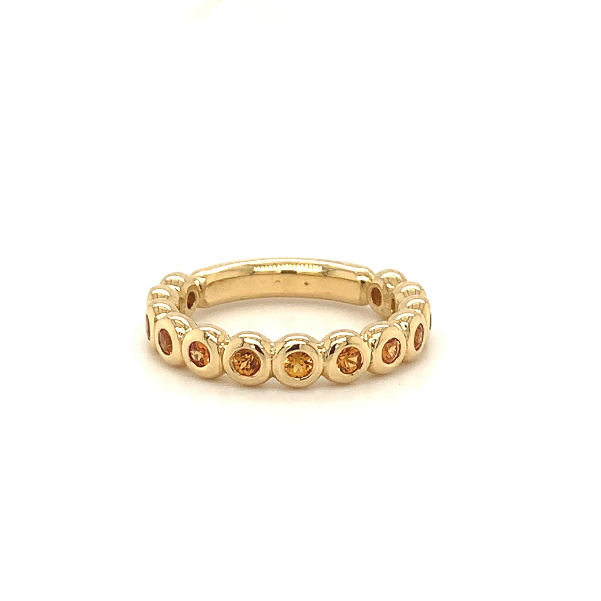 ROEMER by Bregje ROEMER by Bregje geelgouden ring met oranje Saffier