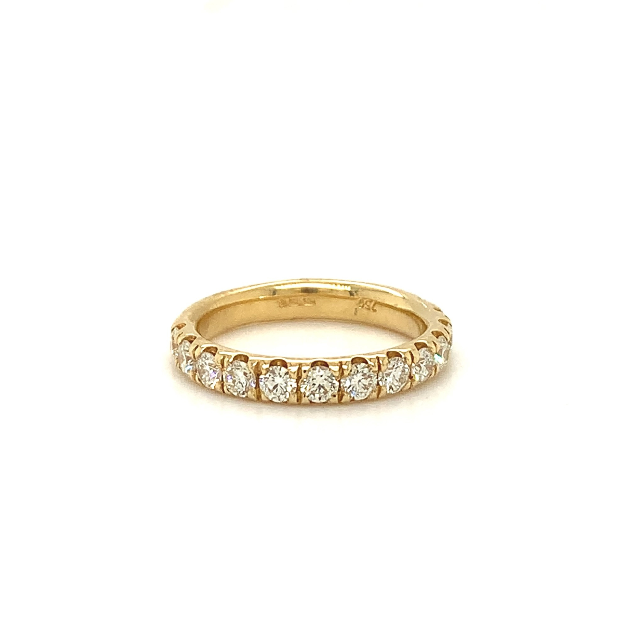 Gouden alliance ring 1,05 ct. Si G/H