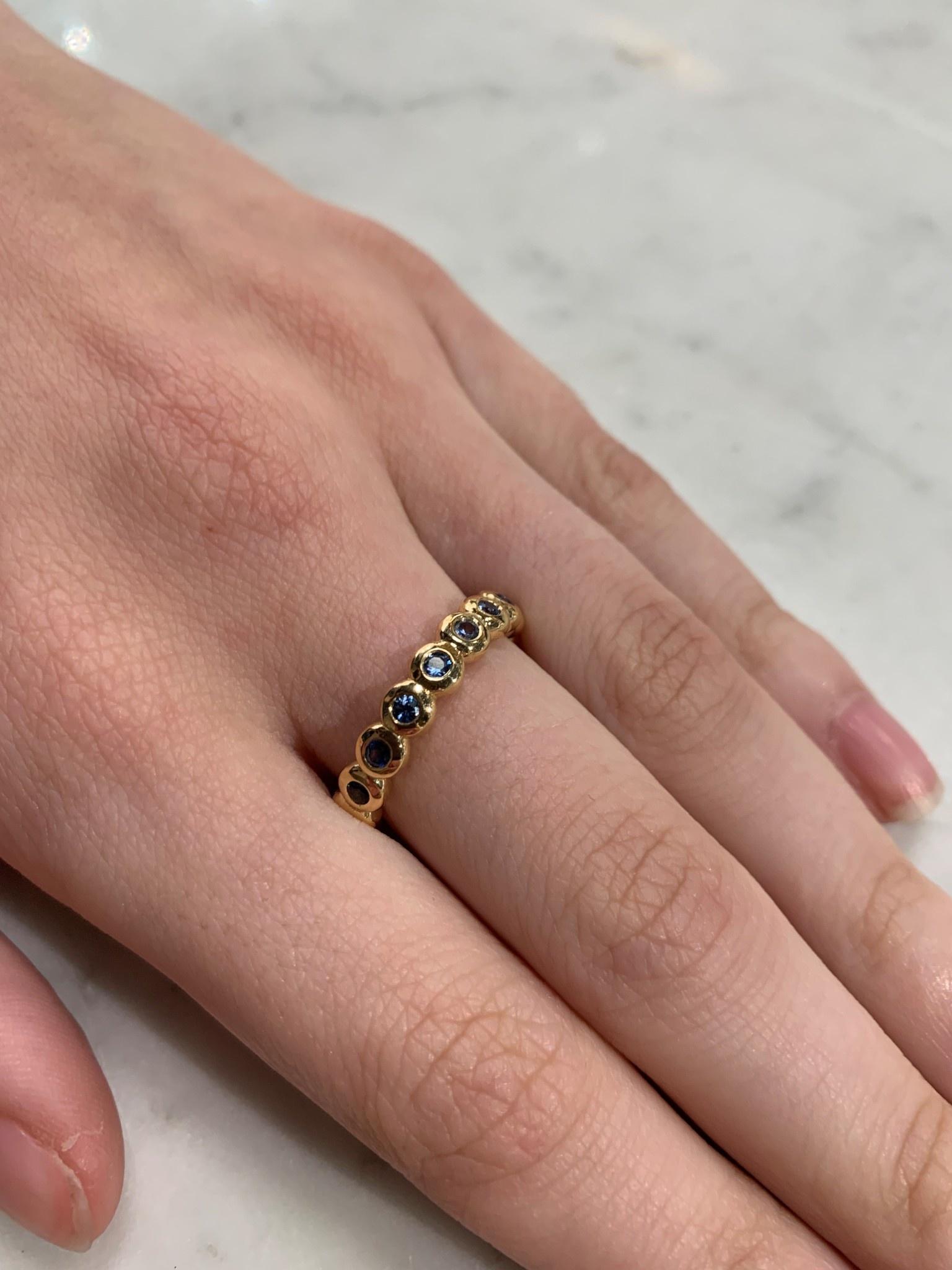 ROEMER by Bregje ROEMER by Bregje geelgouden ring met blauwe Saffier