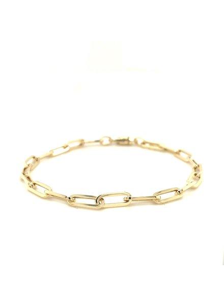 Monzario Oro Paperclip armband 14 karaat goud 19 cm. 1272A