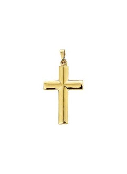 Gouden hanger Kruis 31 mm