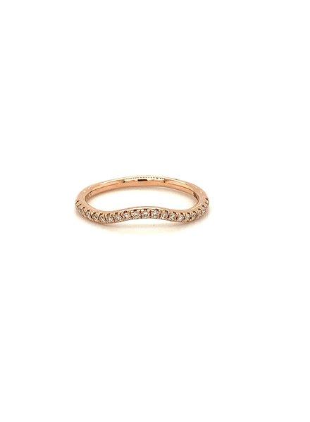 ROEMER ROEMER rosegouden golvende ring met diamant 0.15ct