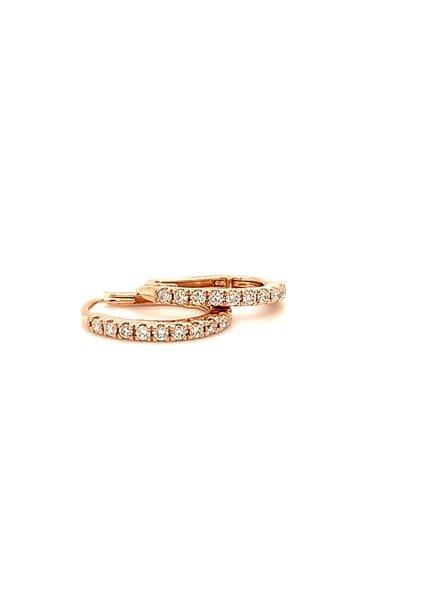 ROEMER ROEMER rosegouden creolen met diamant 0.24ct