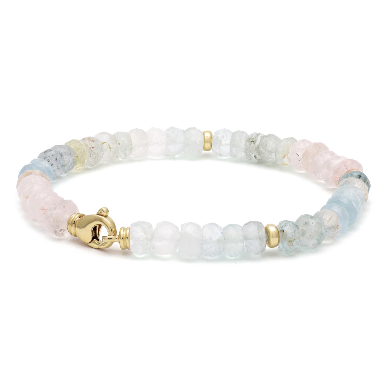 ROEMER Roemer armband met Aquamarijn en gouden sluiting