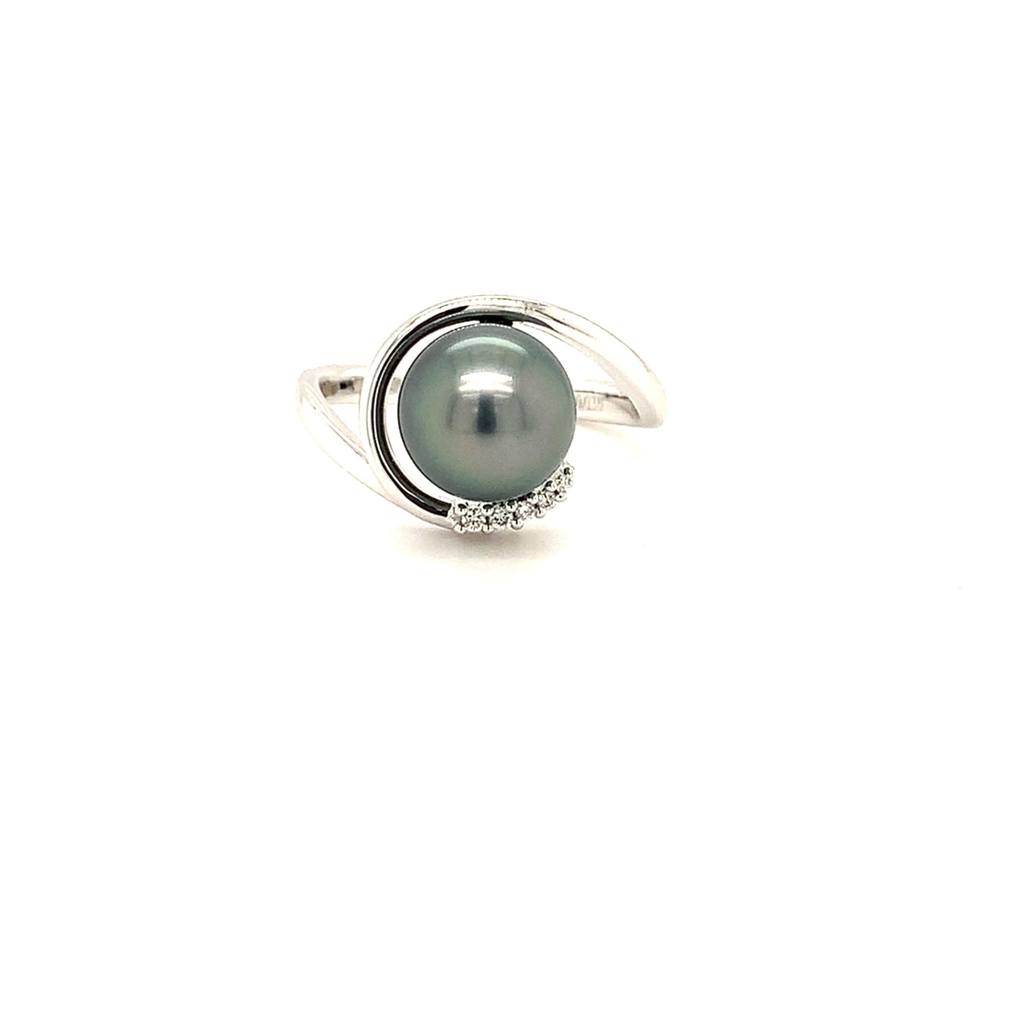 ROEMER ROEMER ring met Tahiti Parel en diamant maat 18