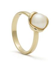 ROEMER ROEMER ring met parel Tulipe maat 54 14 karaat goud