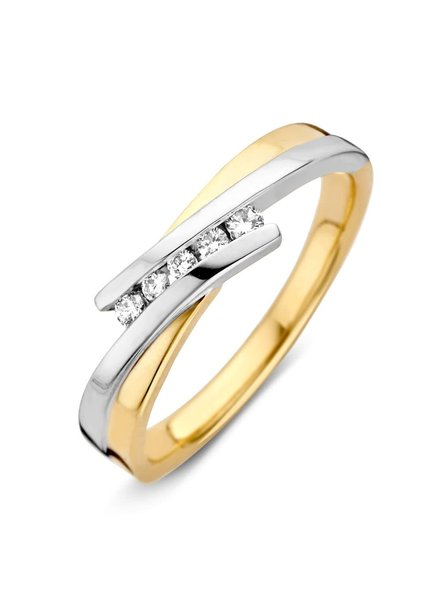 ROEMER ROEMER Bean bicolor gouden ring met briljanten
