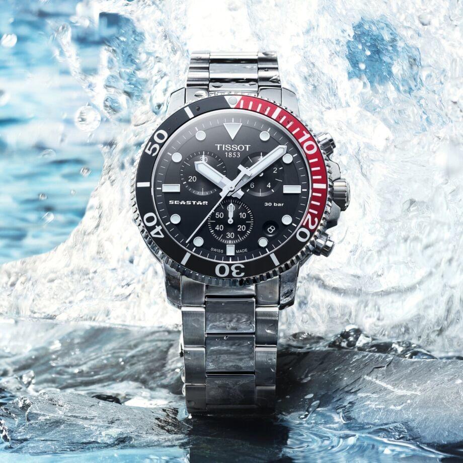 Tissot Tissot Horloge Seastar 100 Chronograaf T120.417.11.051.01