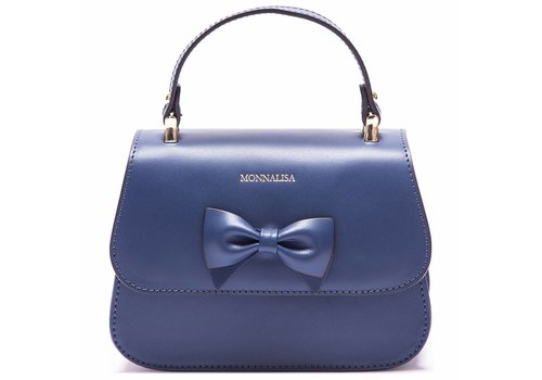 Monnalisa Monnalisa Handbag Blue With Bow