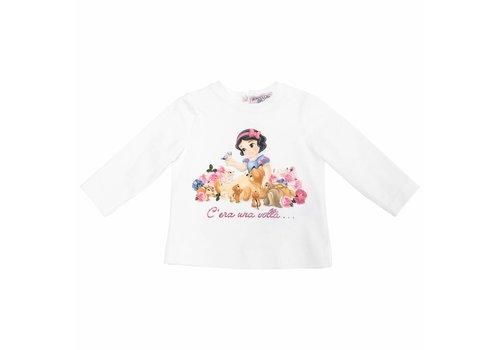 Monnalisa Monnalisa T-Shirt Wit Sneeuwwitje