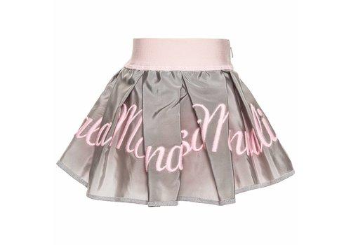 Monnalisa Monnalisa Skirt Grey - Pink Letters 'Monnalisa'