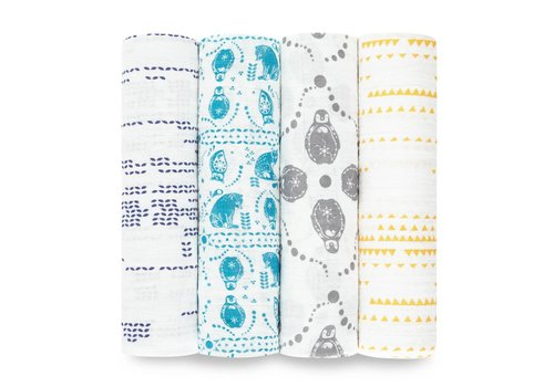 Aden & Anais Aden & Anais Swaddle Kindred 4-Pack