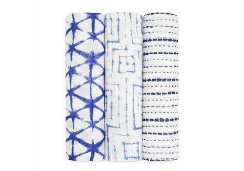 Aden & Anais Aden & Anais Tetradoeken Indigo Bamboo 3-Pack