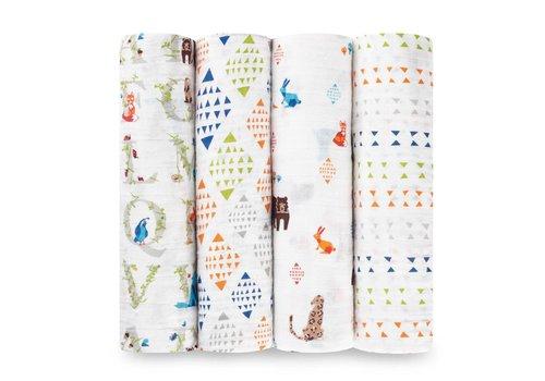 Aden & Anais Aden & Anais Tetradoeken Paper Tales 4-Pack