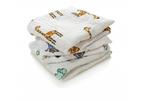 Aden & Anais Aden & Anais Swaddles Musy Jungle Jam 3-Pack