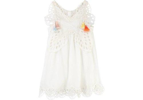 Chloe Chloe Kleed Wit Touwtjes