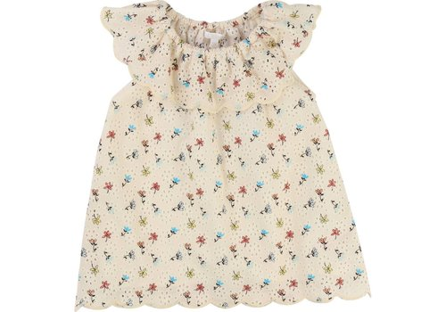 Chloe Chloe Dress Beige With Flowers