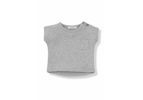 1+ In The Family 1+In The Family T-Shirt Grey With Chest Pocket