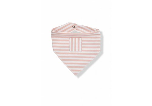1+ In The Family 1+In The Family Burp Cloths Pink - White Stripes