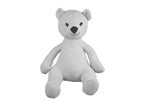 Baby's Only Baby's Only Stuffed Bear 35 cm Classic Silver Gray