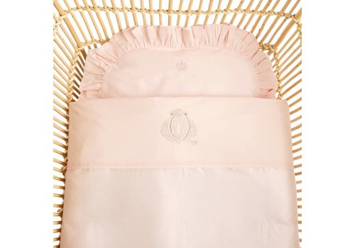 Theophile & Patachou Theophile & Patachou Duvet Cover Cradle With Pillowcase Geprint Poudre Pink
