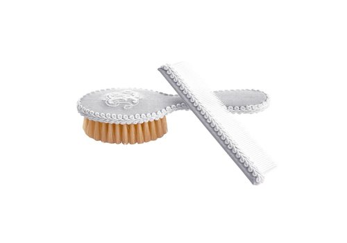 Theophile & Patachou Theophile & Patachou Brush And Comb Grey Cotton Pearl