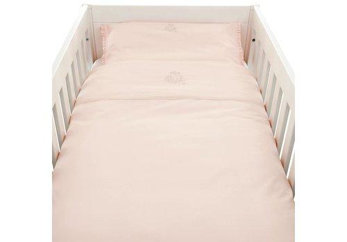 Theophile & Patachou Theophile & Patachou Donsovertrek Bed + Sloop Effen 100 x 135 Poudre Roze