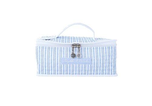 Theophile & Patachou Theophile & Patachou Toilet Bag With Handle Indigo - Stripes