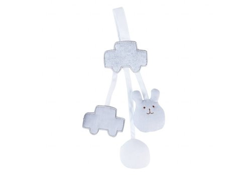 Theophile & Patachou Theophile & Patachou Rattle Soother Clip Bear Grey