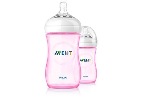 Avent Avent Natural Zuigfles 260 ml Duo Roze