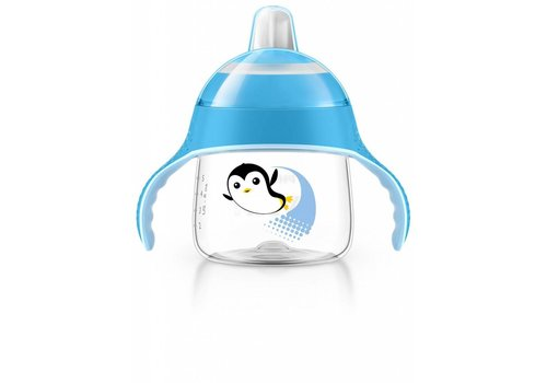Avent Avent Lekvrije Beker Pinguin 200 ml Blauw