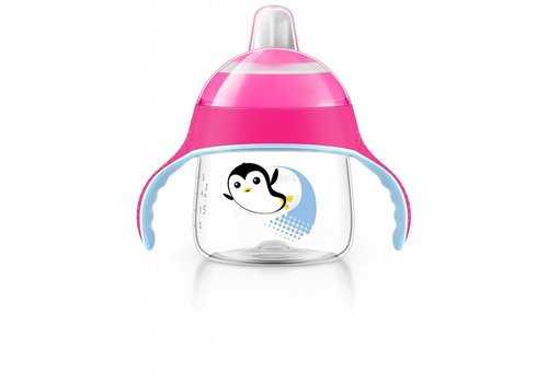 Avent Avent Leak Proof Pinguin Drink Cup 200 ml Pink