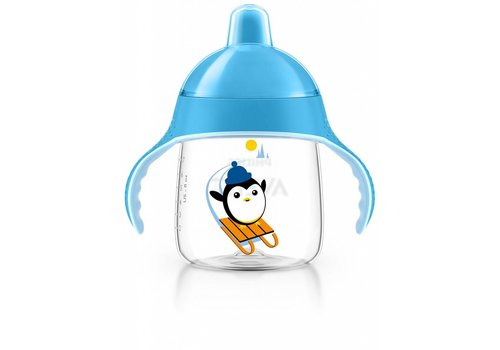 Avent Avent Leak Proof Pinguin Drink Cup 260 ml Blue